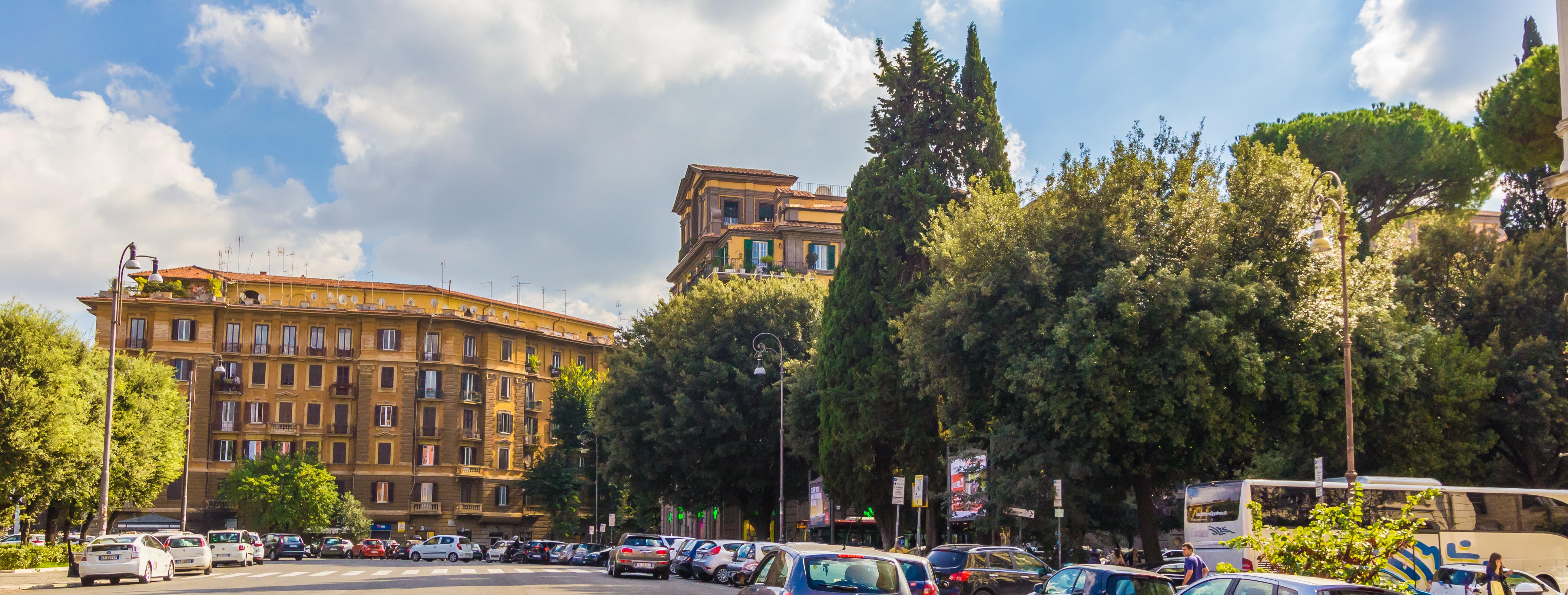 Roma   Rotatoria Piazza Mazzini Prati Roma
