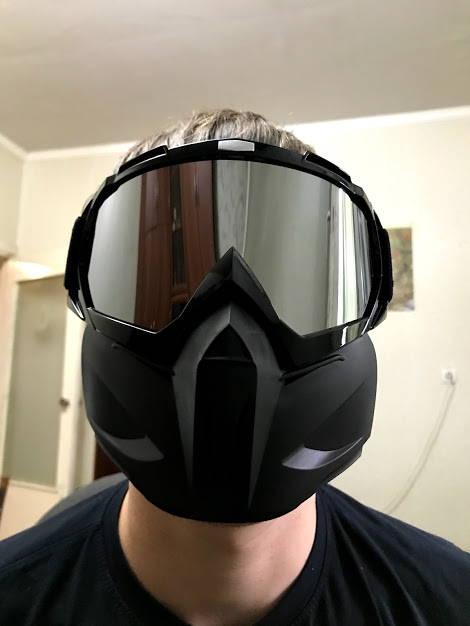 masque amovible trottinette electrique race securite