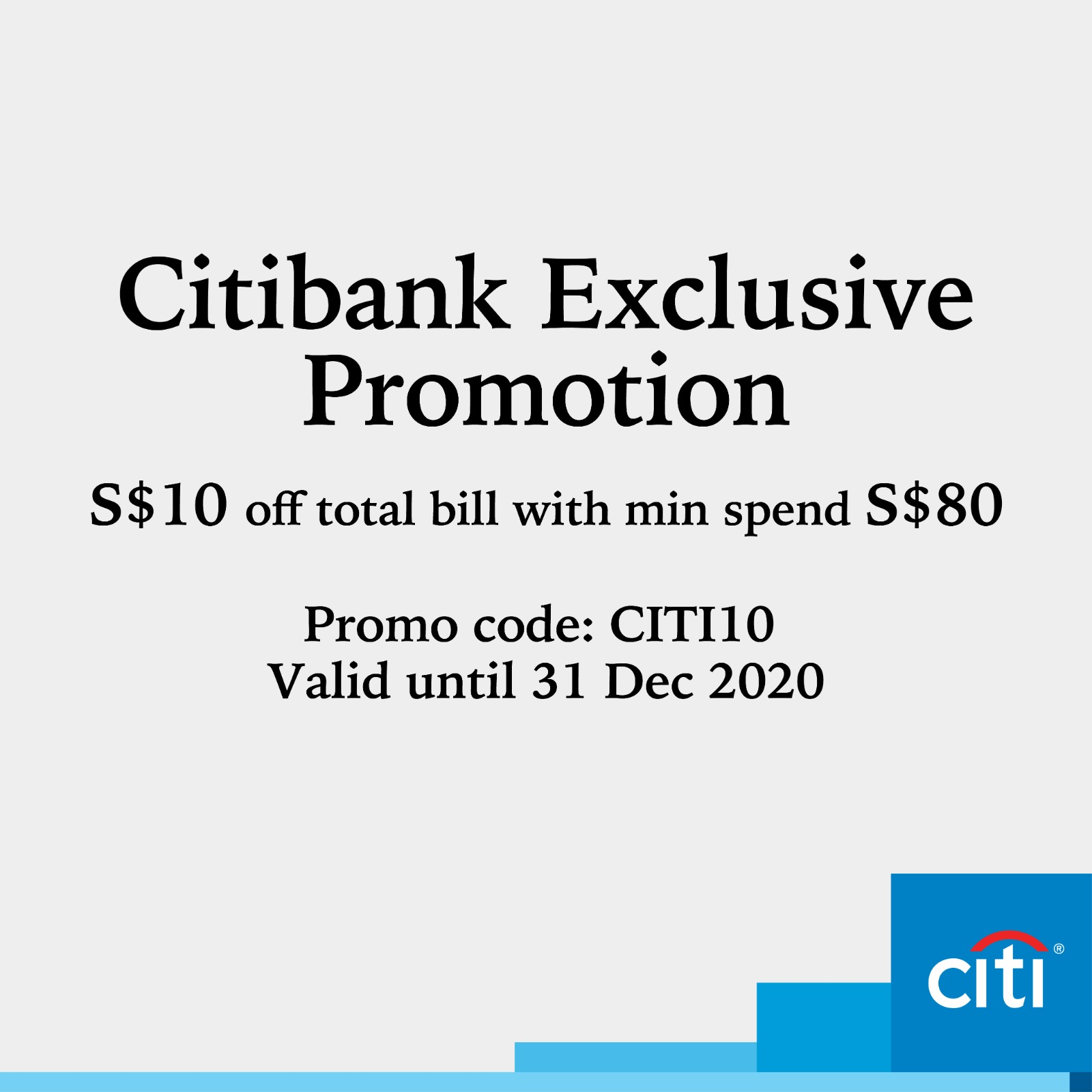 Enjoy $10 OFF with Citi Cards!