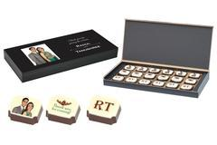 Marriage Return Gifts - 18 Chocolate Box - Printed Candies (10 Boxes)