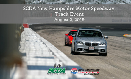 SCDA- New Hampshire Motor Speedway Track Event 8/2