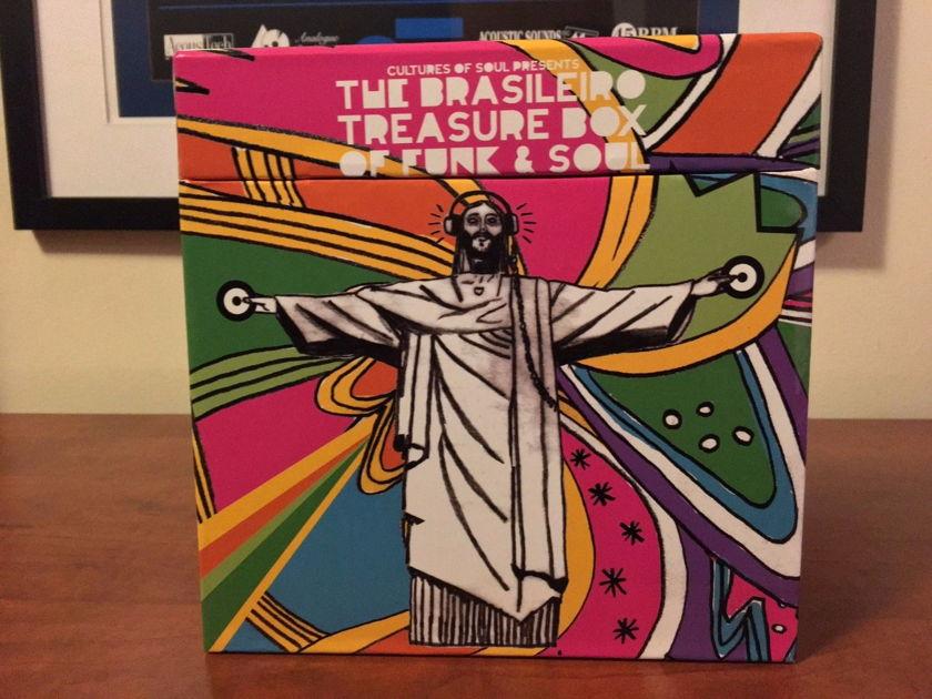 """The Brasileiro Treasure Box Of Funk & Soul - (Cultures of Soul) 7 x 7"""" 45rpm Vinyl"""
