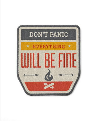 A badge to remind you that everything is OK and to keep calm.