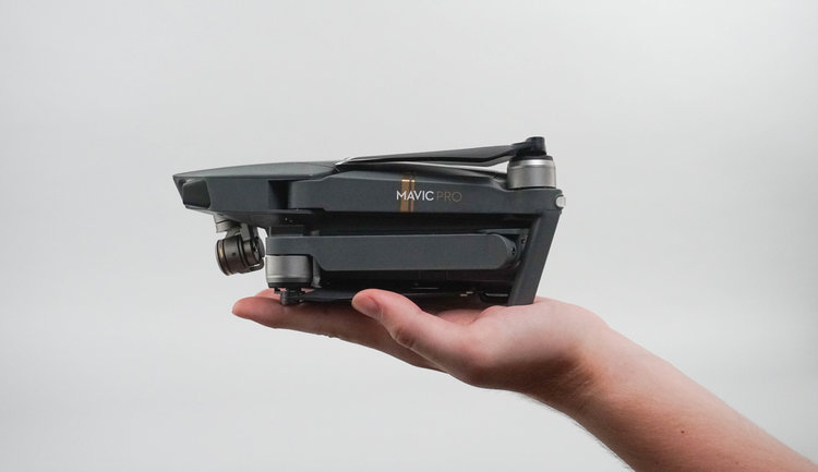 The new DJI Mavic pro features an extremely compact and powerful design