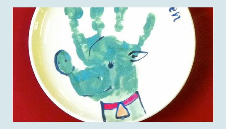 mal werk kindergeburtstag rudolf frohe weihnachten keramik teller