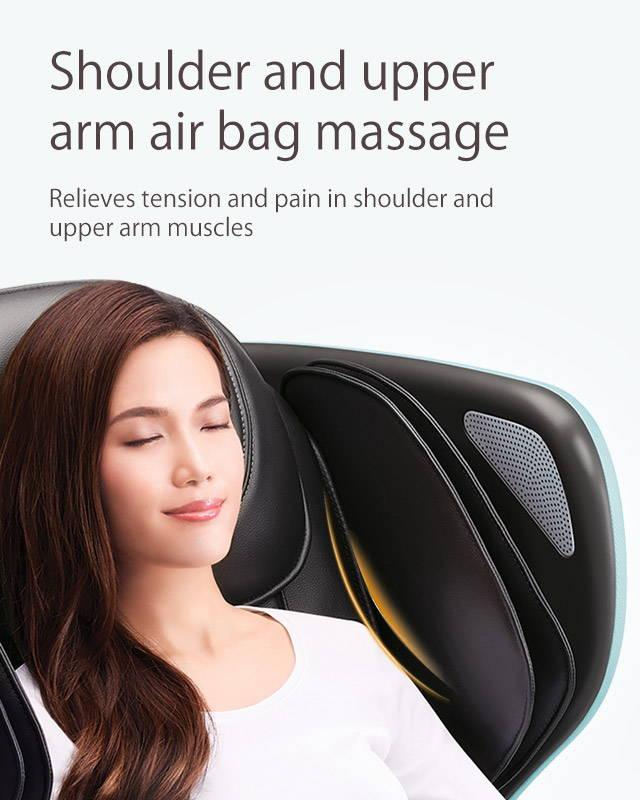 Shoulder and upper arm air bag massage