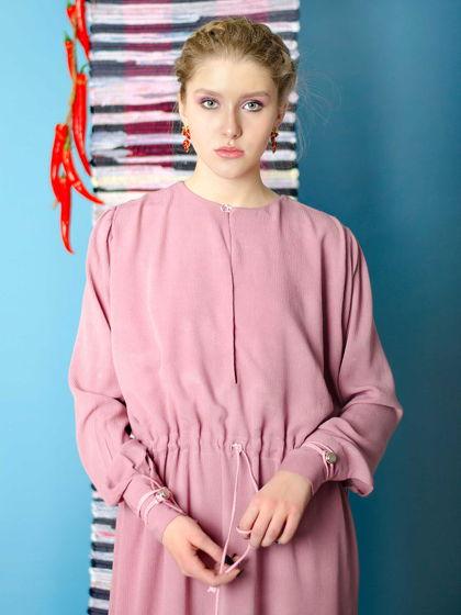 Платье на кулиске из хлопка