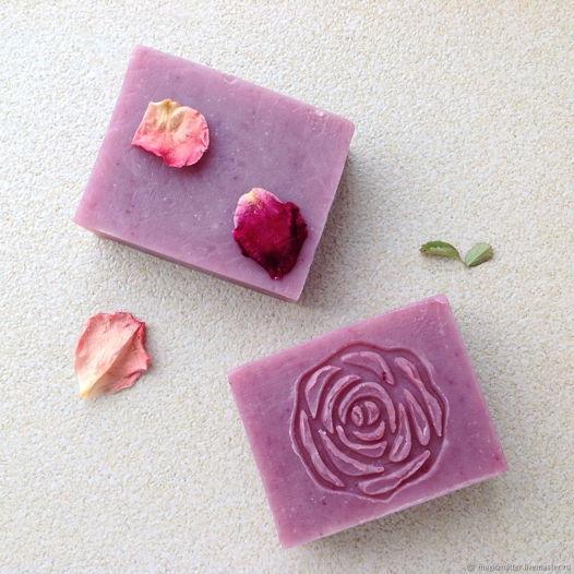 Роза органическое мыло