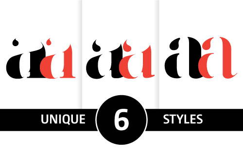 Unique fonts for fashion magazines