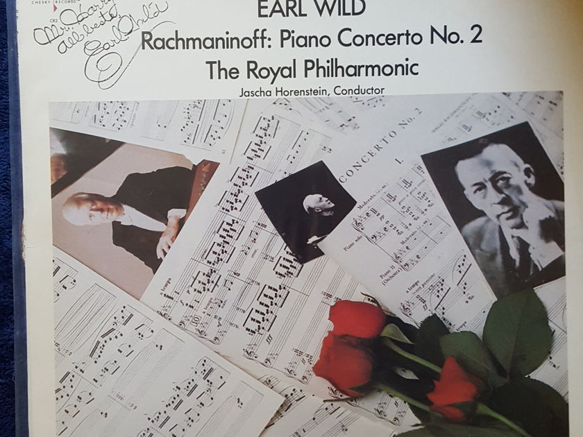 HARRY PEARSONS PRIVATE COLLECTION  - *Signed Copy*Chesky Records #2 Earl Wild  Rachmaninoff Piano Concerts No 2
