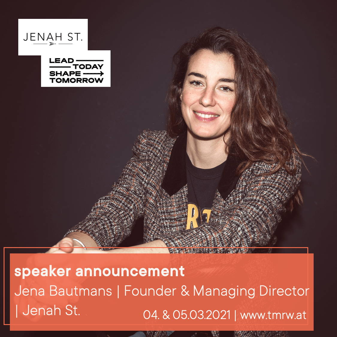 Jena Bautmans from Jenah St. talks at the LTST conference hosted by Female Founders