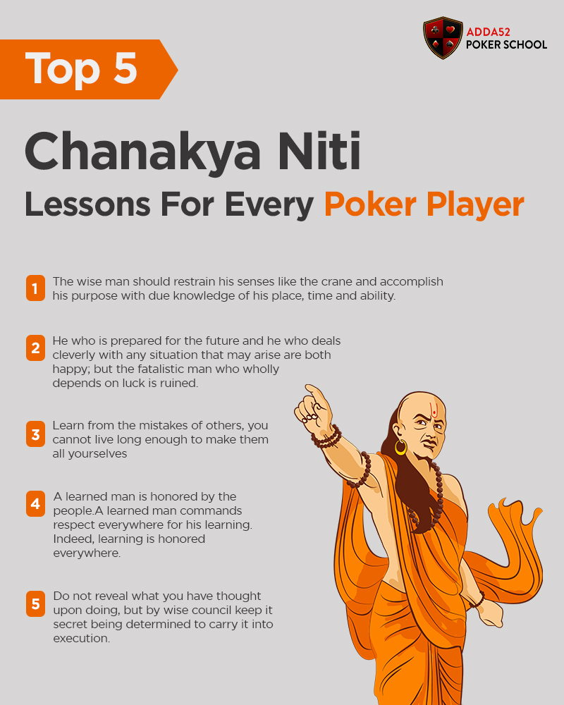 Top 5 'Chanakya Niti' Lessons For Every Poker Player