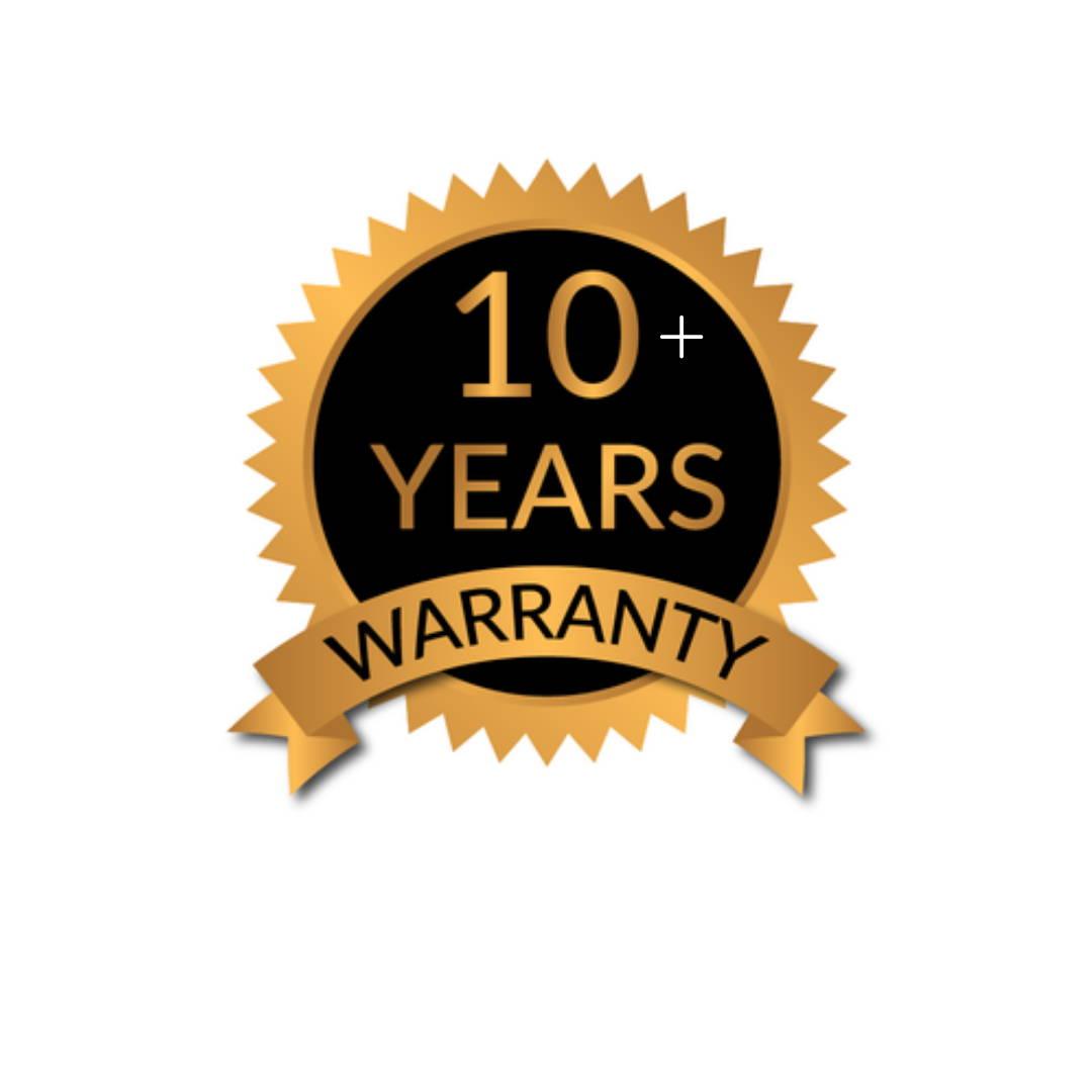 10+ years warranty