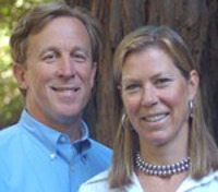 Emerald Bay's Michael Battey and Hannah Sullivan. Sullivan sold her adventure-travel firm to co-found Emerald.