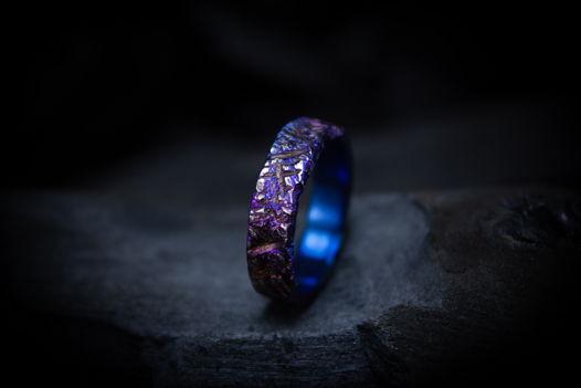 """Титановое кольцо """"Изрезанный закатом"""""""
