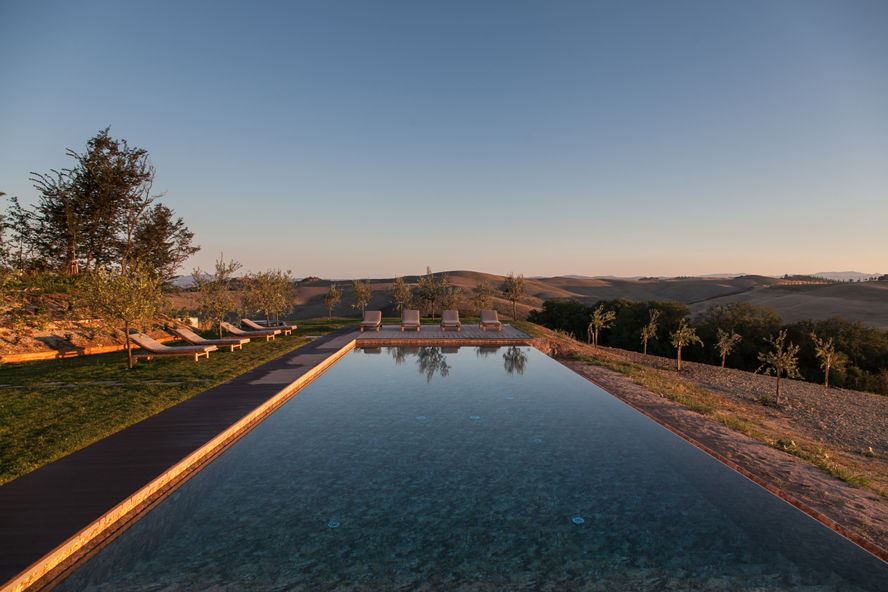 Siena (SI) - villa with swimming pool in the crete senesi, siena, tuscany, italy