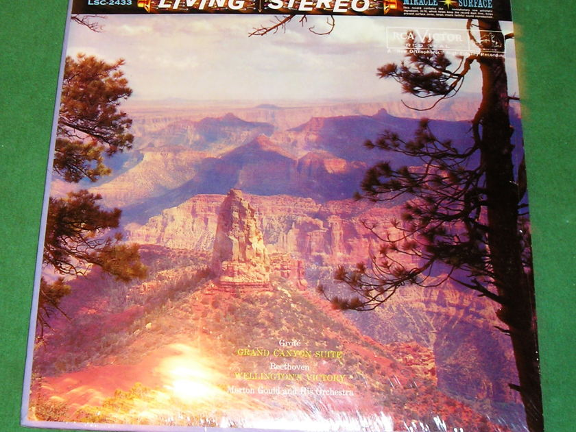 """MORTON GOULD  """"Grand Canyon Suite & Wellingto - RCA RED SEAL SHADED DOG LSC-2433 * NEW/SEALED *"""
