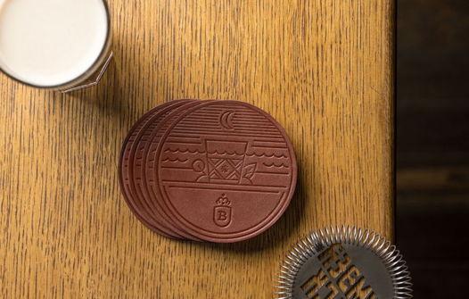 Набор бирдекелей для бара, модель Pale, 4 шт. в подарочной упаковке