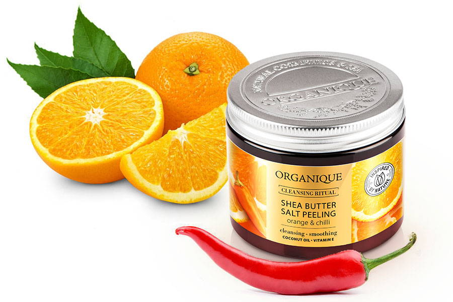 Salt Body Peeling Orange And Chilli With Shea Butter 200ml Organique