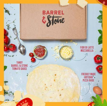 Inside your home pizza kit from Barrel & Stone