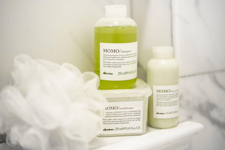 Davines Momo shampoo conditioner for dry hair