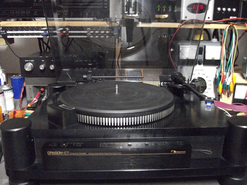 Nakamichi Dragon CT Computer Turntable w/platter centering all electronlytic caps are upgraded