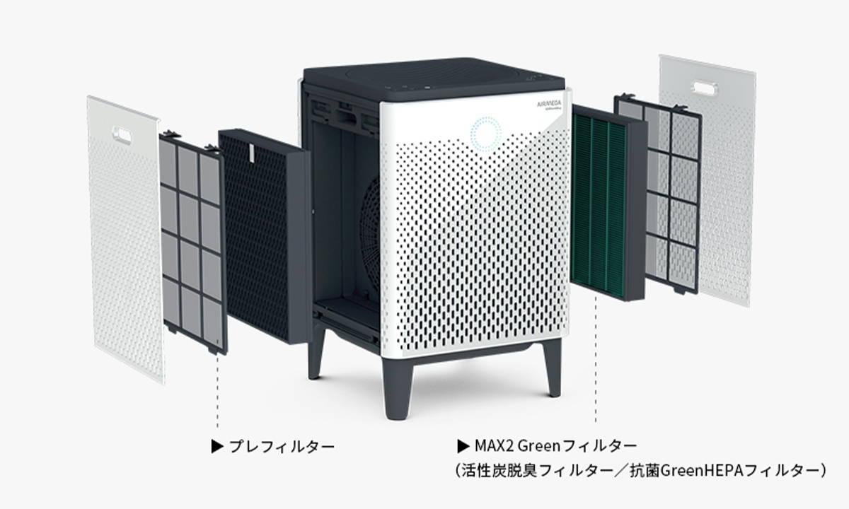 プレフィルター・MAX2 Greenフィルター