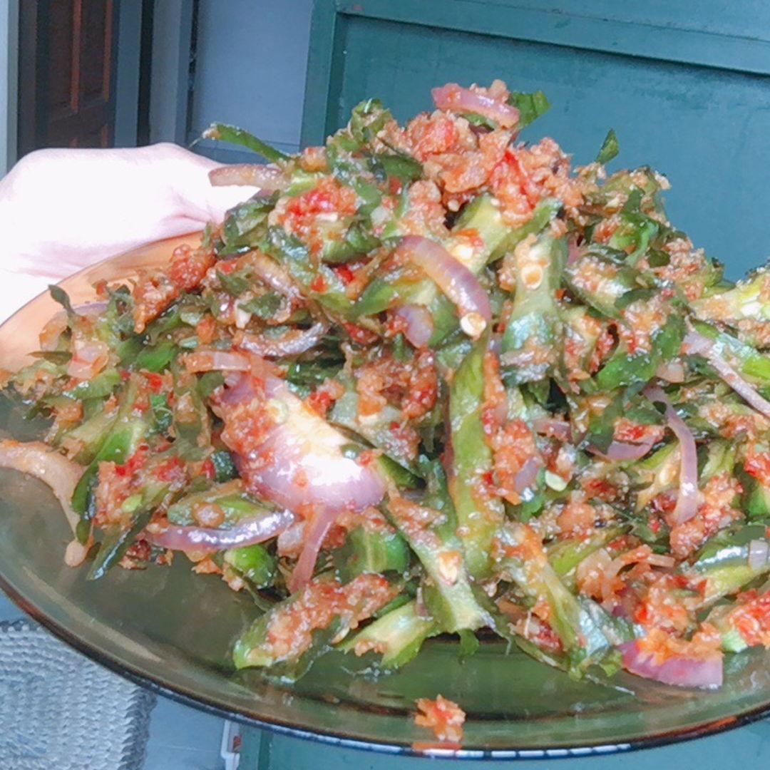 Stirred fry sambal with 4 angled bean/ winged bean aka kacang botol. Sedap