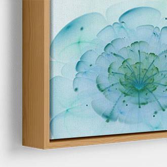 Narrow wood metallic canvas floater frame