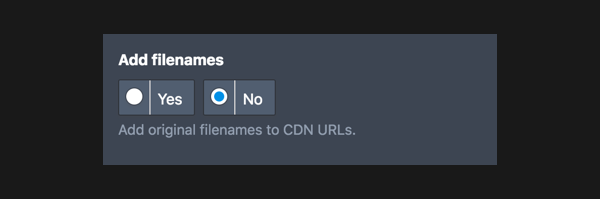 Adding filenames to CDN URLs