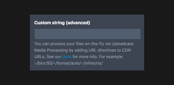 Adding custom strings to CDN URLs