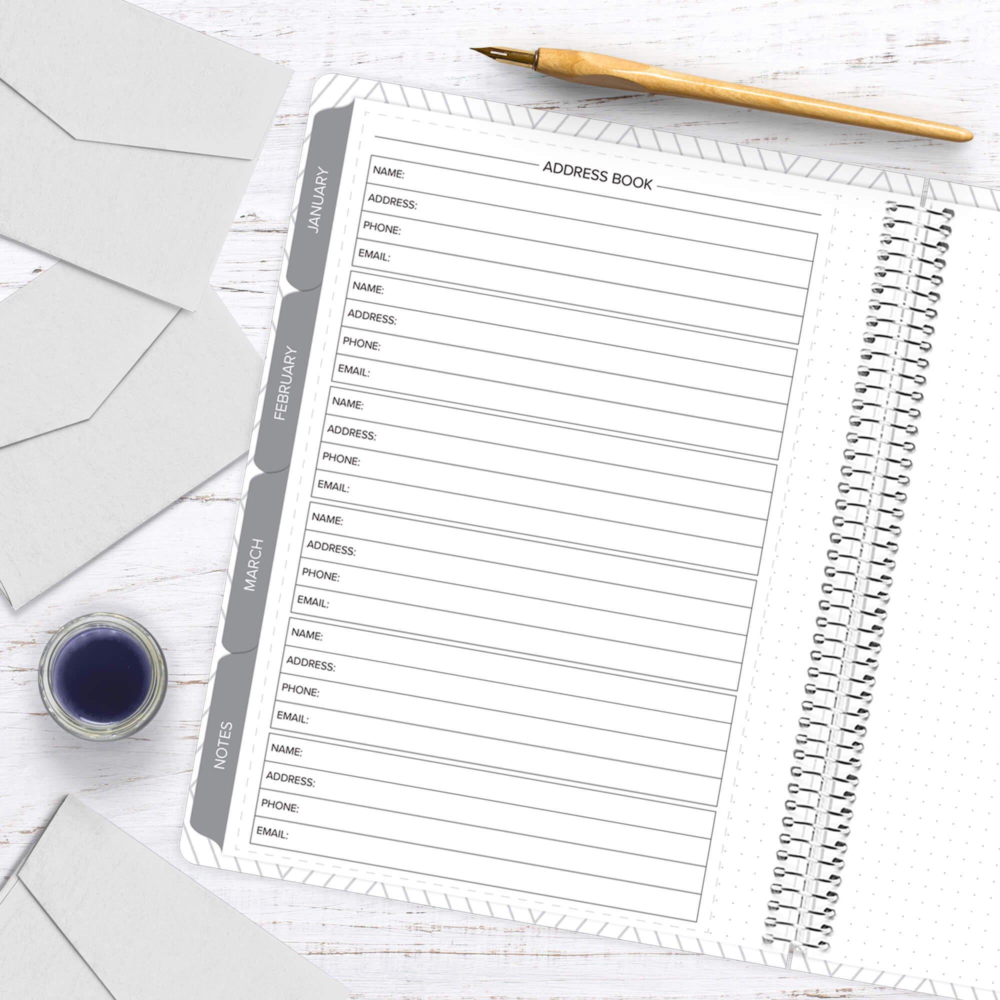 amplify planner address bok insert