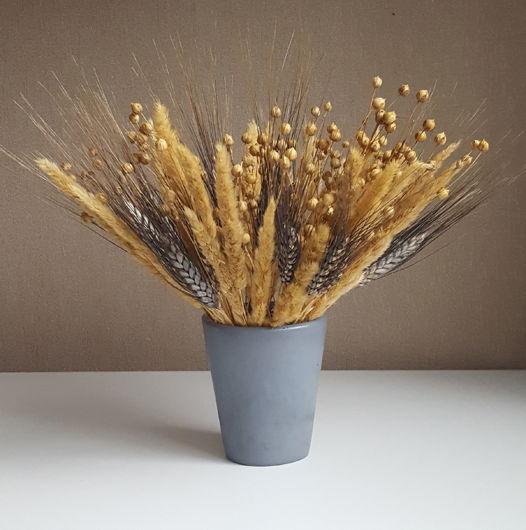Стакан/вазочка неправильной формы из декоративного бетона