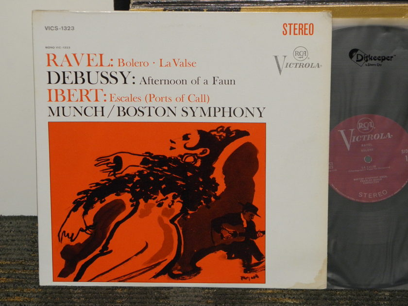 "Charles Munch/Boston Symphony Orchestra - Ravel ""Bolero"" + more RCA Plum Victrola VICS-1323  1S/1S ""I"" matrix"
