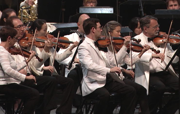 "The LA Phil perform Laura Karpman's ""All American"" on the Bowl stage in 2019"