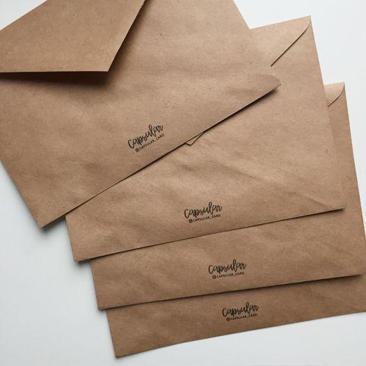Крафт-конверты с Вашим логотипом С6