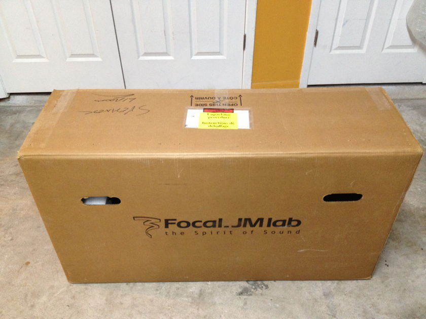 Focal JM Labs Diva Utopia BE  Pair in Piano Black w/Orig Box,Spikes and Manual.