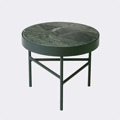 Green marble table by Ferm Living
