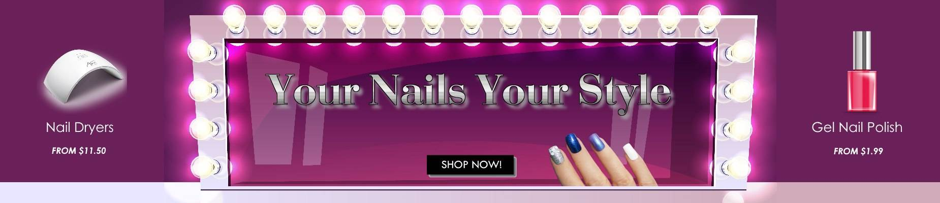 nails polish and gel at huge sale