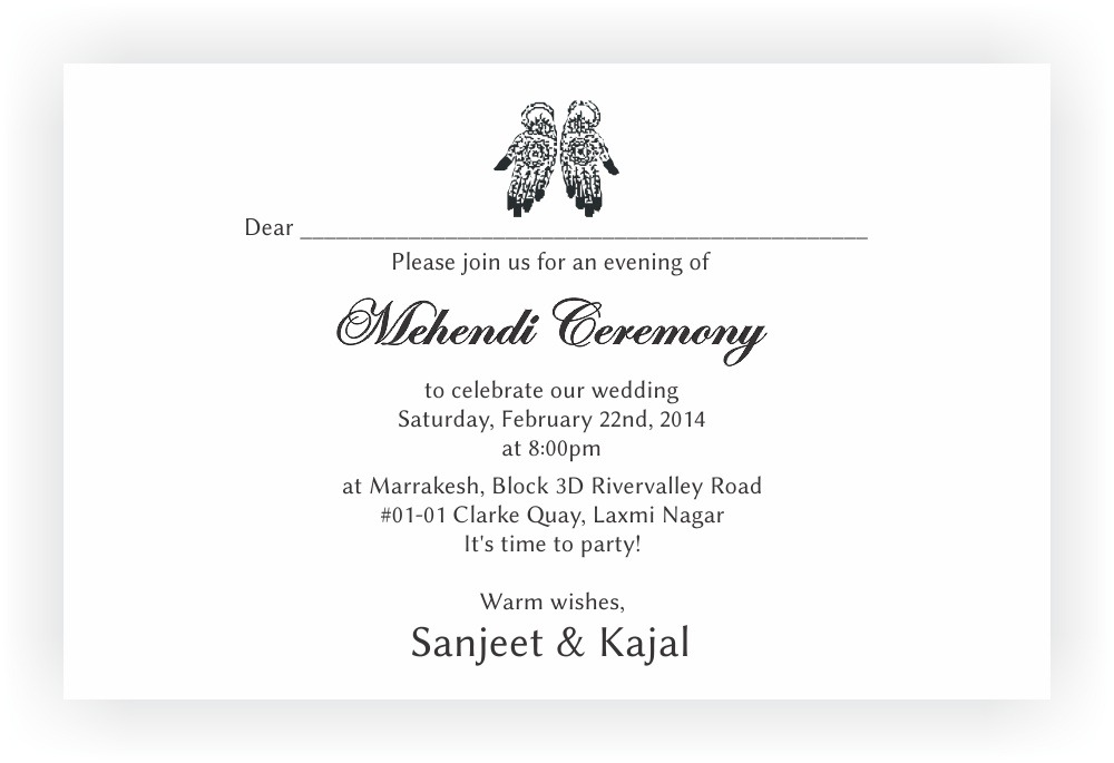 Mehndi Party Meaning : Invitation wording for mehndi party images