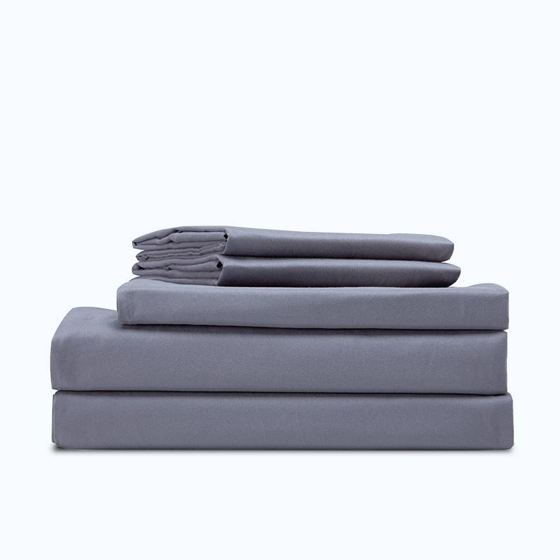 sleep zone bedding website store products collections cooling solid sheet sets gull gray grey