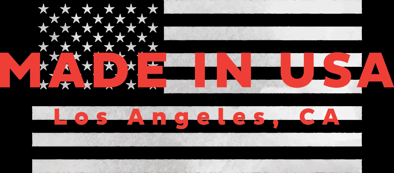 LA Linen, Made in USA, Los Angeles, California, US flag