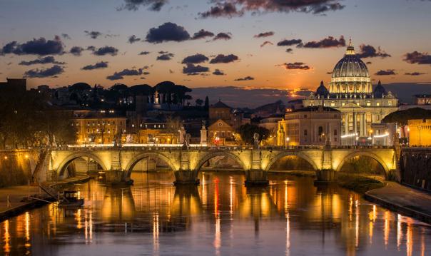 Романтика вечернего Рима