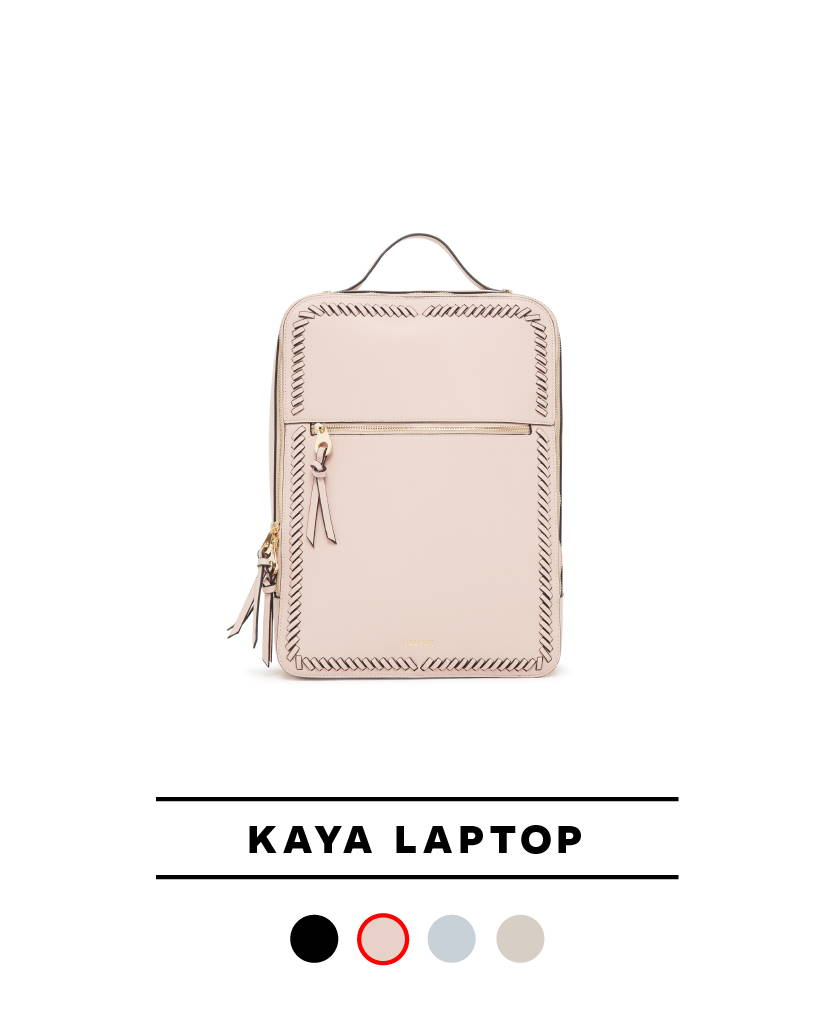 Kaya Laptop Backpack in Blush