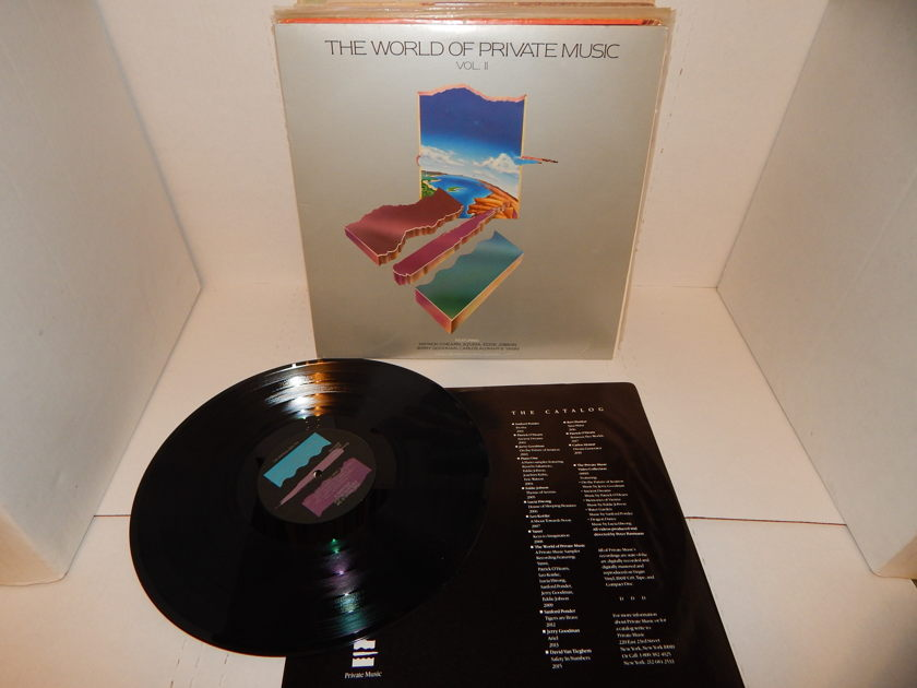 THE WORLD OF PRIVATE MUSIC VOL II Sampler - Patrick O'Hearn Eddie Jobson Jerry Goodman Various 1987 Private Music New Age LP NM