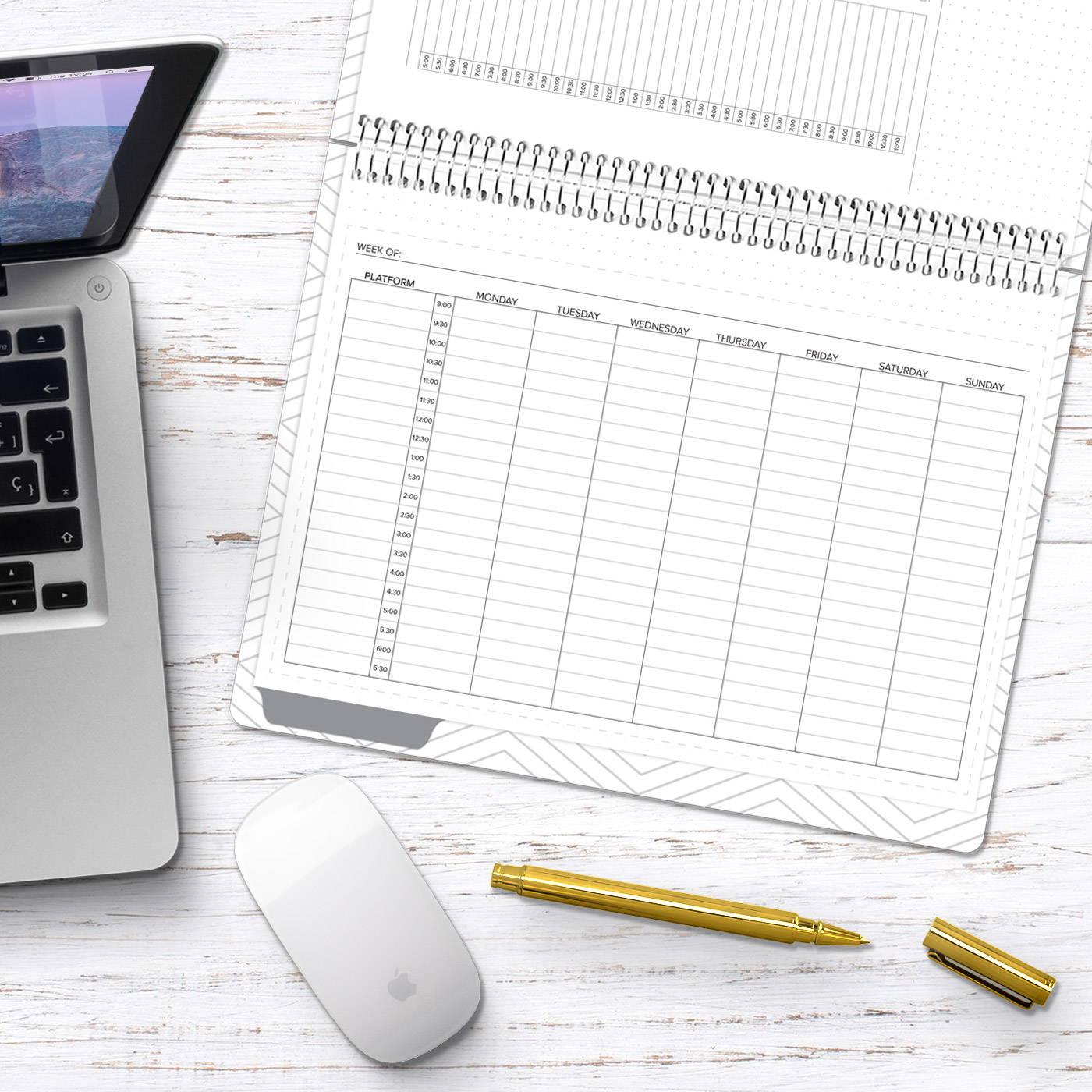 amplify planner social media tracker insert
