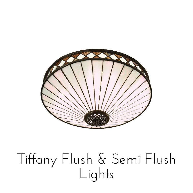 tiffany flush lights