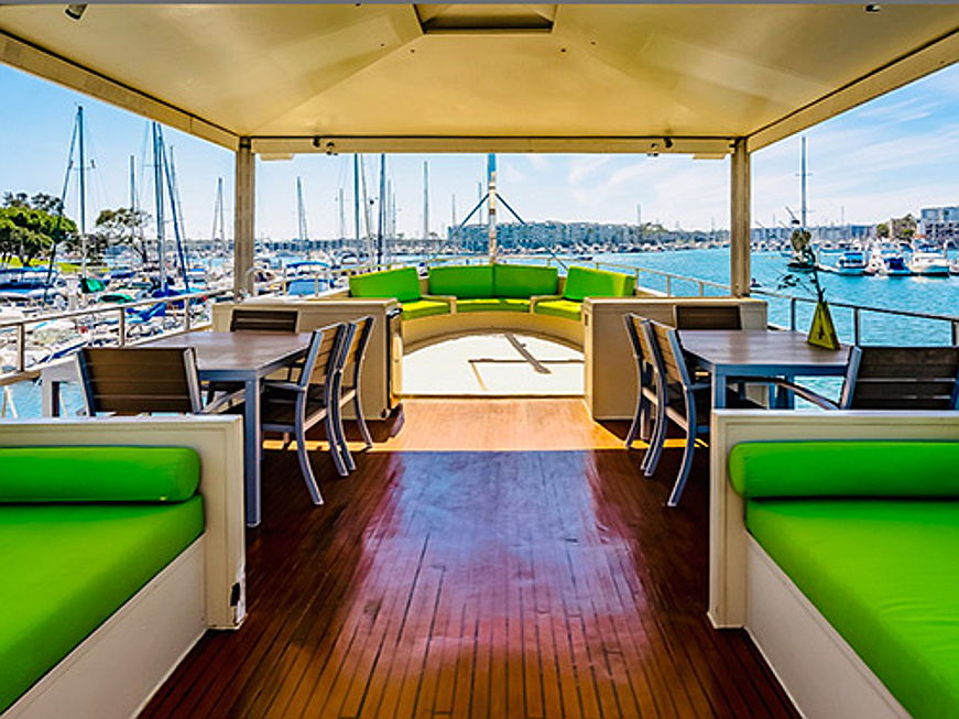 "Visp - Engel & Völkers Yachting Newport Beach is now brokering the almost 101-year-old and completely refitted ferry ""The Ace"" for 569,000 US dollars. (Image source: Engel & Völkers Yachting Newport Beach)"