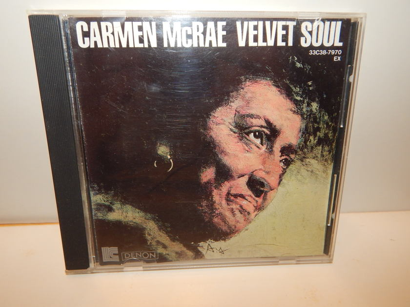 CARMEN McRAE Velvet Soul - Japan Import Denon Brown Pass Sims Nippon 1986 Columbia CD
