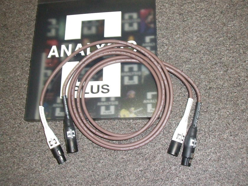 Analysis Plus Chocolate Oval-In Interconnect, 1.5 meter XLR
